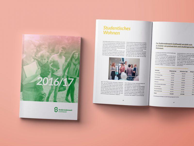 Design und Produktion Geschäftsbericht Studierendenwerk