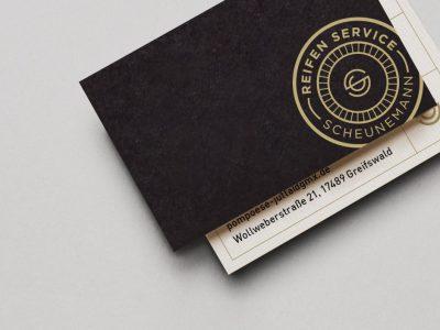 Design und Produktion für den Reifen Service Scheunemann
